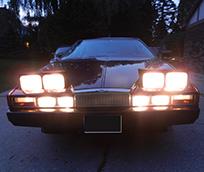 Night drive ready... illumination like a Christmas tree!